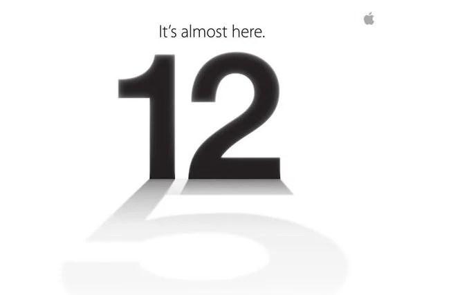 Convite evento Apple para lançamento do iPhone 5 - iPhone 5: convite da Apple indica lançamento no dia 12 de setembro