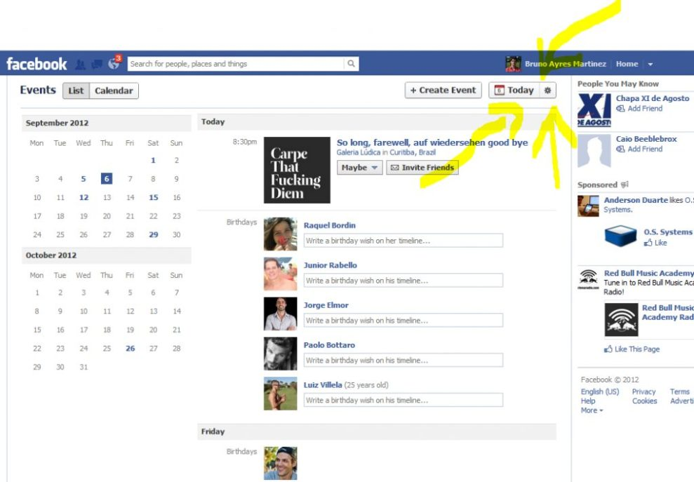 "Facebook suggested events eventos sugeridos - Acabe com os ""eventos sugeridos"" do Facebook"