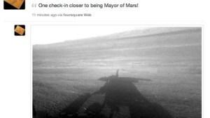Missão Curiosity faz o primeiro check-in no Foursquare em... Marte 12