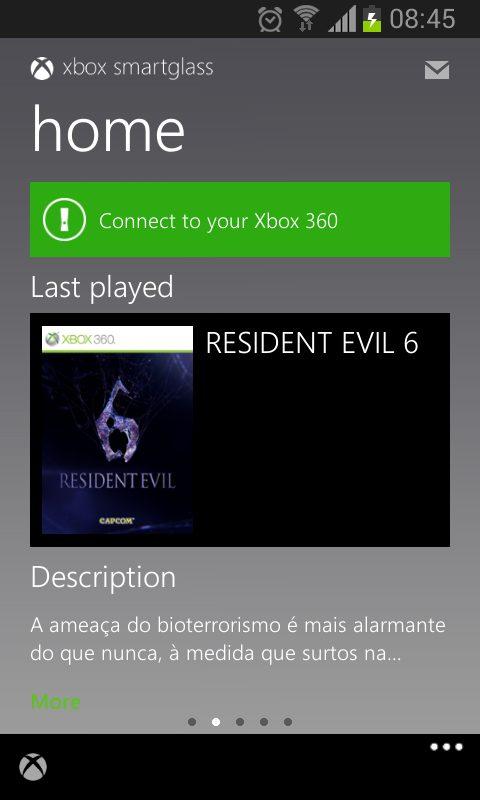 Screenshot 2012 11 16 08 45 04 - Review: Xbox SmartGlass para o Android, iOS, Windows Phone e Windows 8