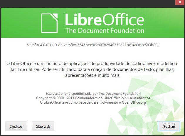 Capturar - LibreOffice 4.0.03: nova versão gratuita e repleta de novidades (Windows/Mac/Linux)