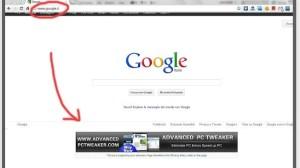 Exemplo de anúncio injetado por extensão no Google Chrome