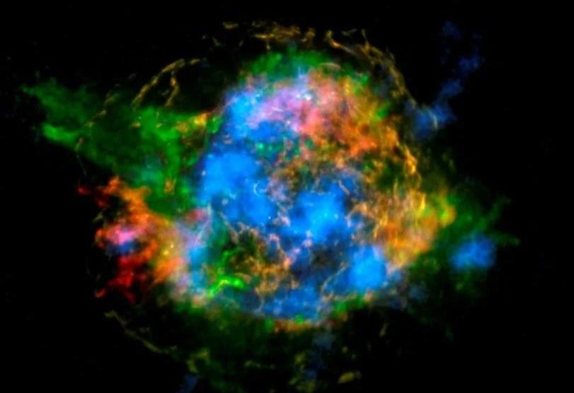 Imagem mostra radioatividade numa supernova 8