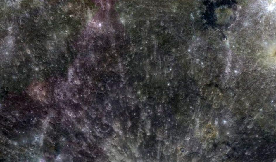 Sonda em Mercúrio cria mosaico de 3 cores 3