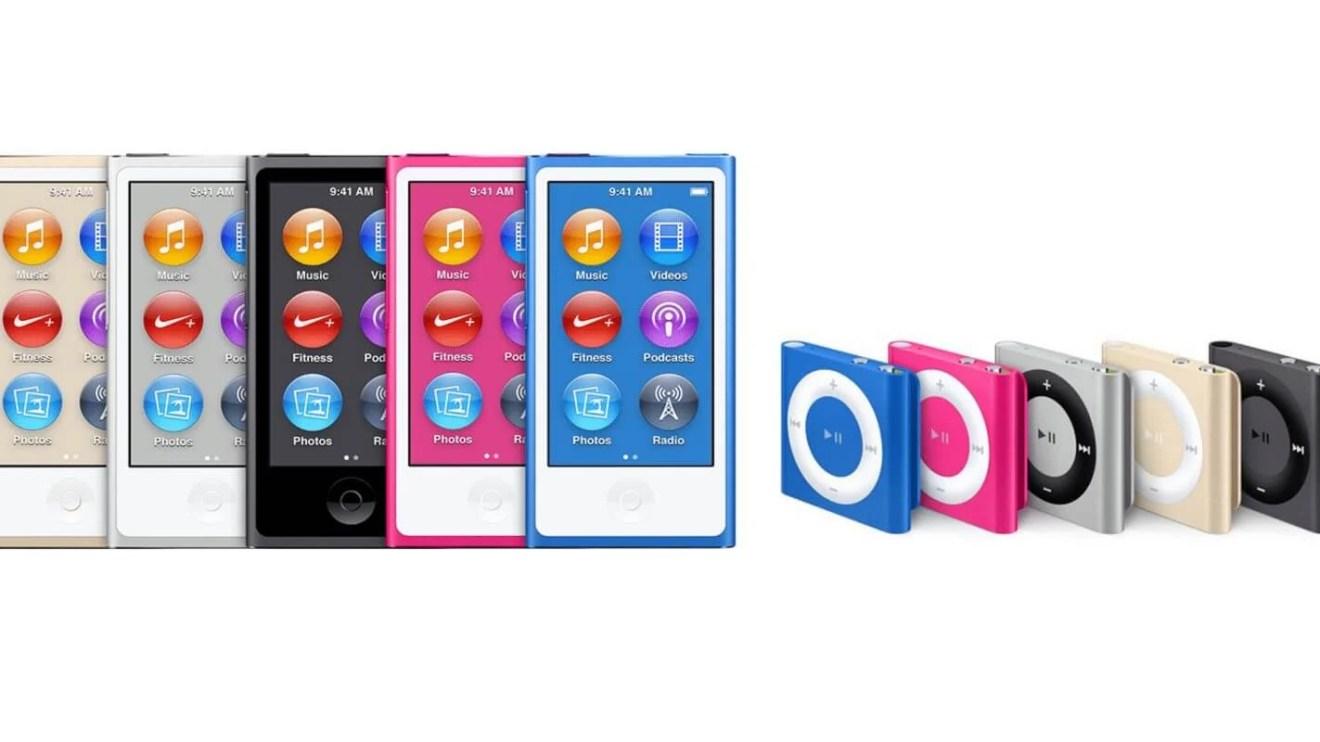 Linhas de iPod encolhem e modelos shuffle e nano são descontinuados