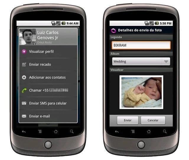 Combo: Google Buzz, Google Maps, Fring e Orkut para celulares Android 4