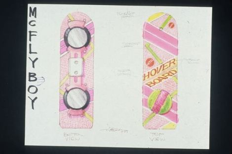 concept drawings back to the future 3 - IMAGENS: Back to the Future II Concept Art