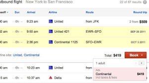 Flight Search, a nova pesquisa do Google especializada em vôos 11