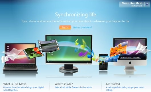 live mesh - Sincronize pastas entre computadores com o Windows Live Mesh