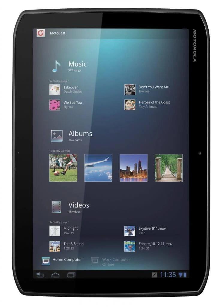XOOM2 Front vert MotoCast EMARA - Motorola lança XOOM 2 e XOOM 2 Media Edition (Tablets)