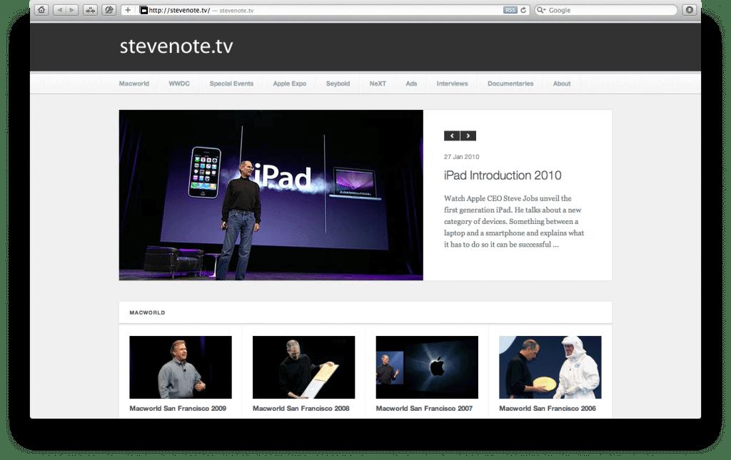 02 StevenoteTV - Brasileiro cria site apresentações de Steve Jobs