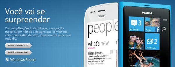 Nokias Lumia 600x231 - Nokia Lumia 710 e 800 aparecem no site da Nokia do Brasil