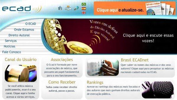 ecad site 600x340 - Após nota do Google, Ecad suspende cobrança a blogueiros (YouTube)
