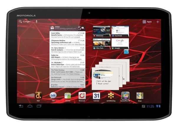 xoom 2 press front on white - Review: Motorola XOOM 2 Media Edition