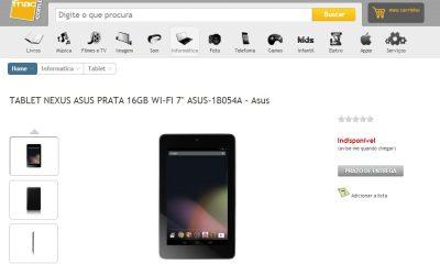 Nexus 7 aparece no site da FNAC - Nexus 7 aparece no site da FNAC