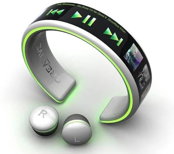 Wrist wear MP3 Player - MP3 Player com tela OLED flexível é carregado com energia do corpo humano