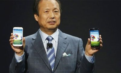 Galaxy S4 o CEO da Samsung J. K. Shin - CEO da Samsung afirma que dispositivos Windows vendem pouco, o mercado prefere Android