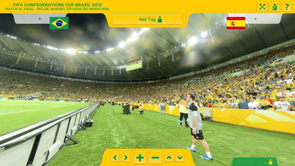 Captura de Tela 2013 07 03 às 19.49.37 - Super câmera 360 graus permite ver torcida no Maracanã