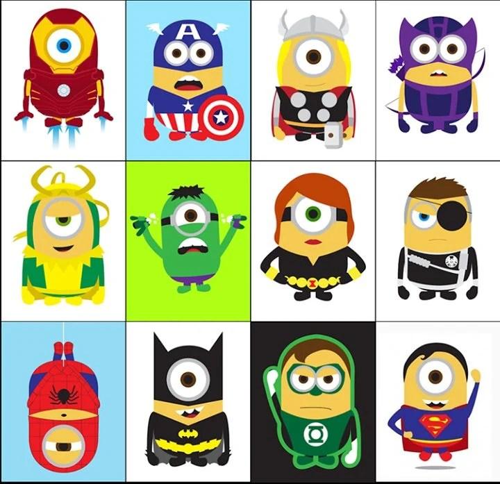 minions - Minions ganham versões de super-heróis da Marvel e DC