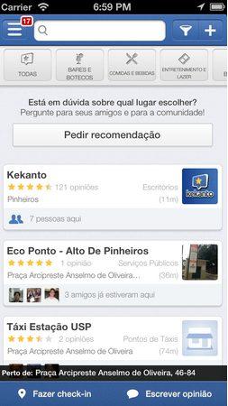 Aplicativo Kekanto permite pedir recomendação e marcar amigos