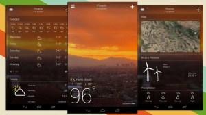 Atualização do Yahoo! Tempo traz nova interface ao Android 5