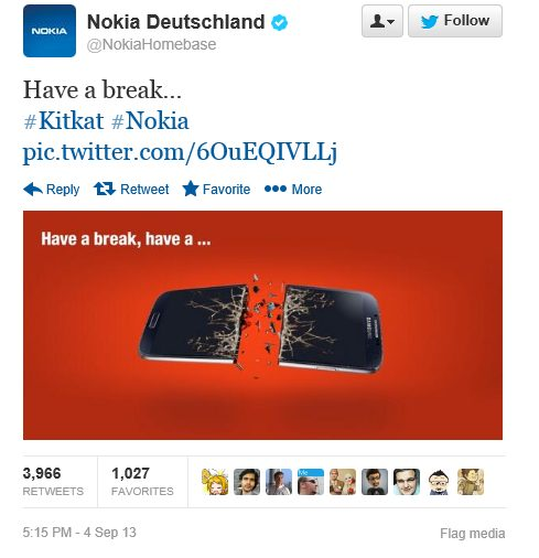 Have a break! KitKat Nokia x Samsung