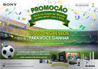 promocao voce na copa com sony - Promoção da Sony vai distribuir 2 mil ingressos para Copa do Mundo