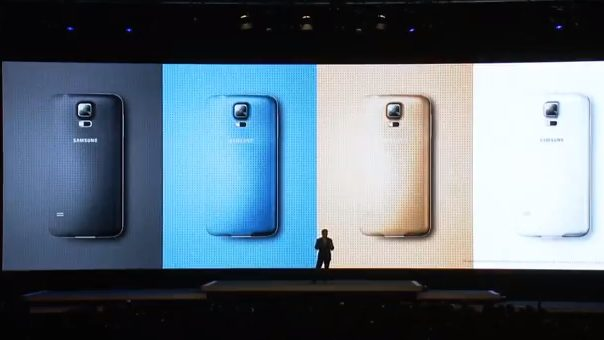Opções de cores do Galaxy S5