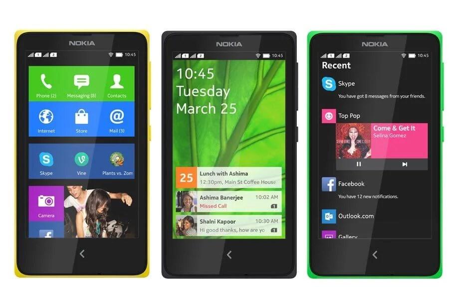 smartphone Nokia X - Nokia lança celulares com internet por menos de R$ 100