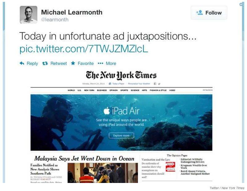 Captura de Tela 2014 03 25 às 13.39.07 - Apple dá azar em anúncio no The New York Times