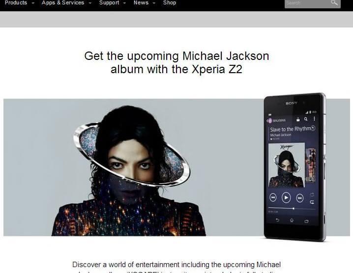 Sony Xperia Z2 virá com novo álbum de Michael Jackson 6