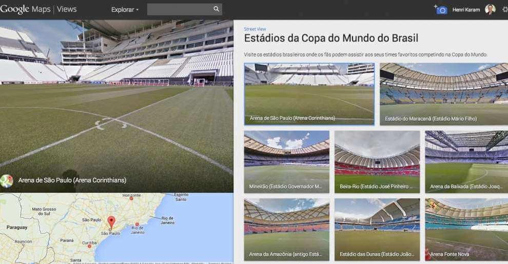 Conheça os estádios da Copa do Mundo no Street View 6
