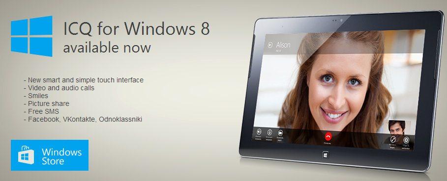 ICQ Windows 8 Android iOS Windows Phone store app aplicativo