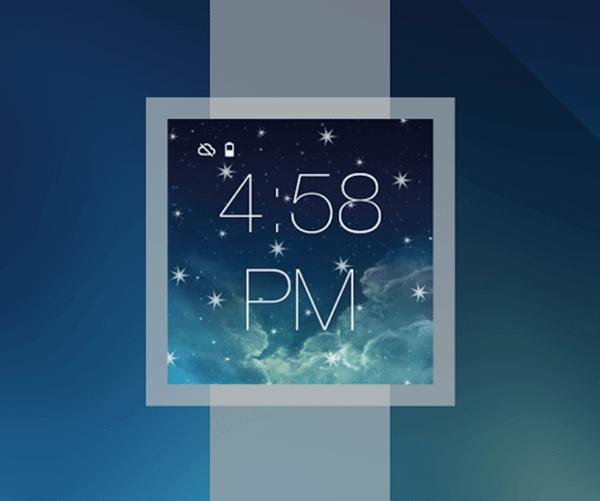 Tema transforma o Android Wear no iWatch 6