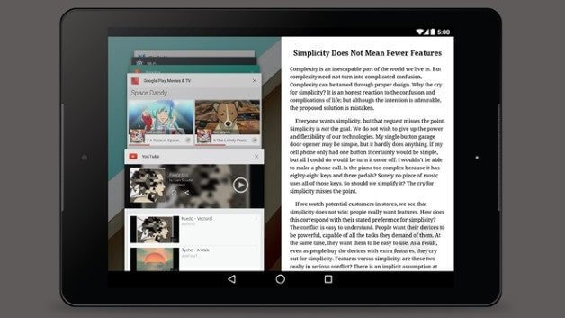 Google faz experiências com o modo multi-janela para Android 4