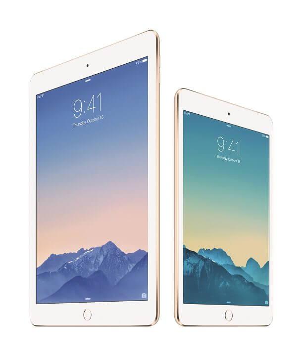 iPad Air 2 e iPad Mini 3