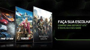Faça sua escolha: lançamentos da Ubisoft grátis na compra de placas GeForce GTX 13