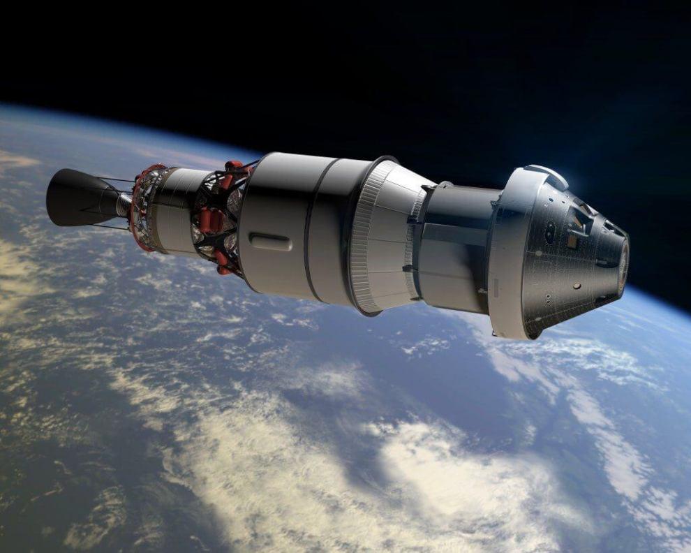 rendering of orion exploration flight test 1 - Missão Orion: acompanhe o lançamento (ao vivo)