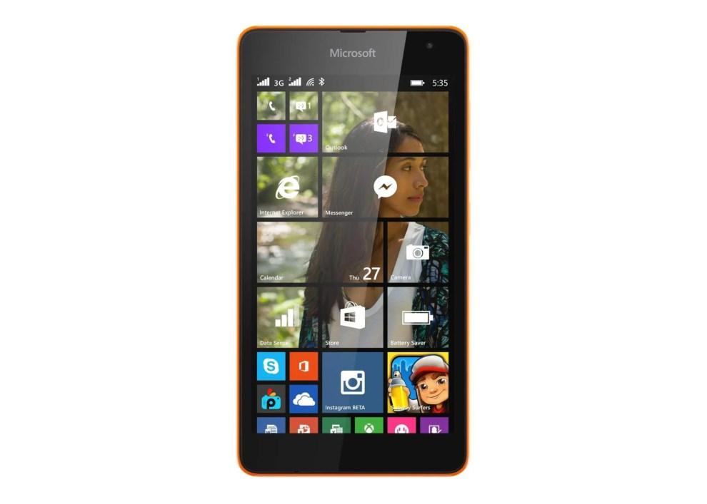 lumia535 front orange dsim - Lumia 535 Dual SIM chega ao Brasil
