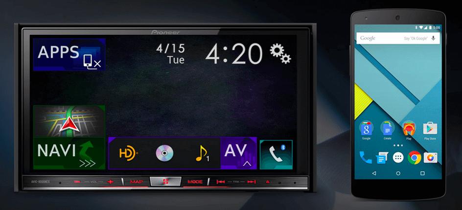 android auto pioneer - Pioneer lança aparelhos compatíveis com Android Auto e Apple Car Play