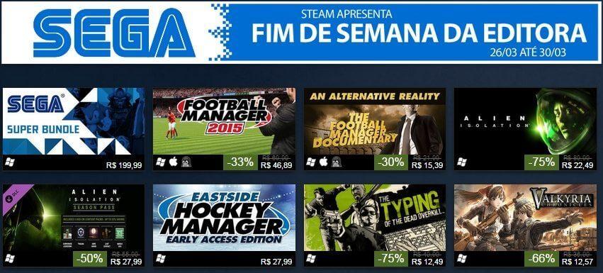 fim de semana sega - Promoções de Jogos SEGA no STEAM