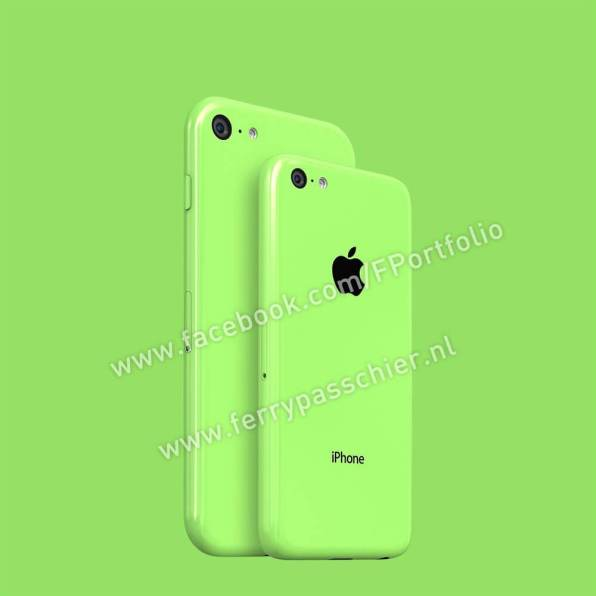 Iphone 6c back green compare