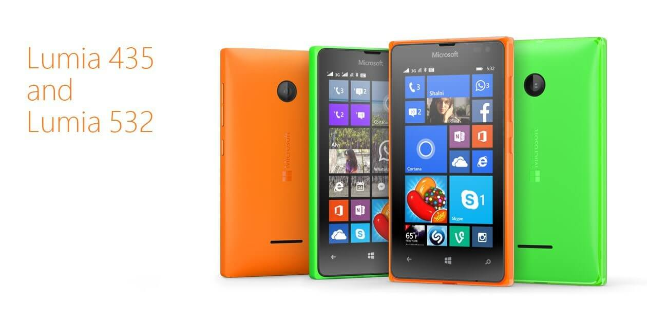 lumia435 - Lumia 435 e Lumia 532 com preços baixos e TV Digital