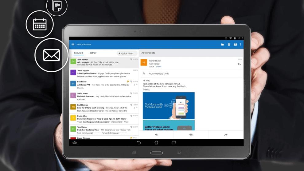 Outlook para iOS e Android ganha integração com Facebook, Evernote e Wunderlist 3