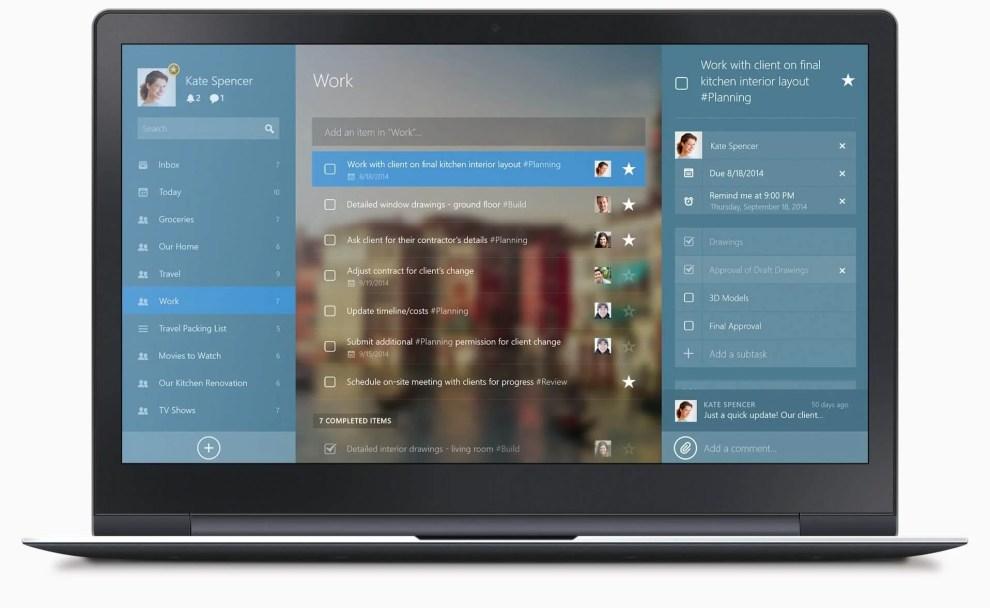 wunderlist windows 8 - Rumor: Microsoft quer comprar aplicativo de lista de tarefas Wunderlist