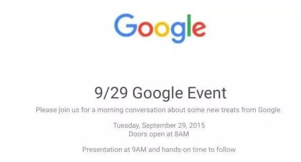 google event - Google anuncia evento no dia 29 de setembro; novos Nexus a caminho?
