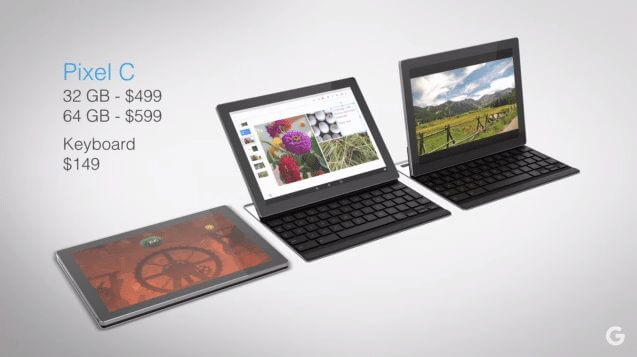 pixel c google android tablet mashmallow - Google lança tablet Pixel C com Android Marshmallow