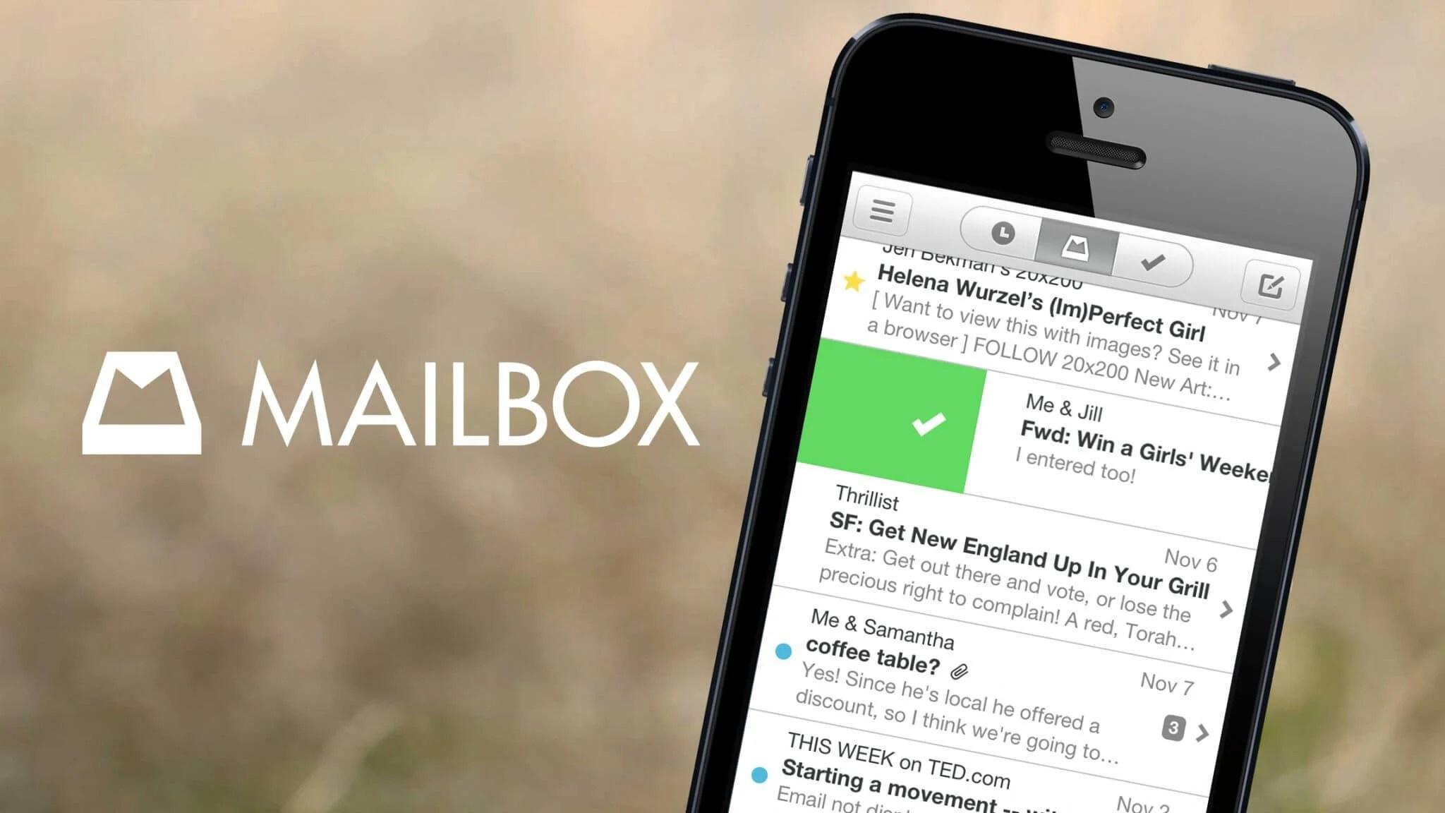 app mailbox 1 - Dropbox irá descontinuar Mailbox e Carousel