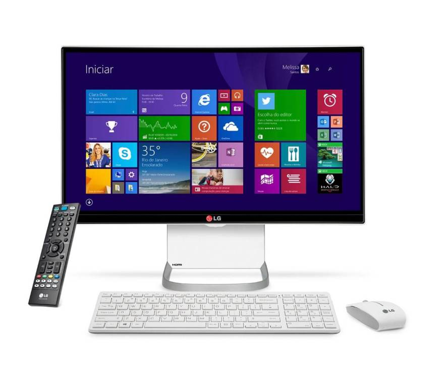 smt allinonelg gal front - Review: conheça o PC All-in-One da LG (All in One 27v750)
