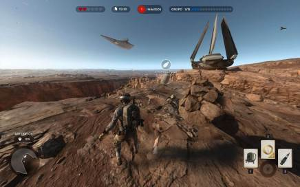 Starwarsbattlefront cena gameplay missao 3 pessoa